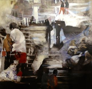 Maria Eugenia Akel: 'Otro Valparaiso', 2012 Mixed Media, Surrealism.                 It is a mix Photo- painting, using my own self taken photos and my paintings, all worked in digital , and then over canvac.                ...