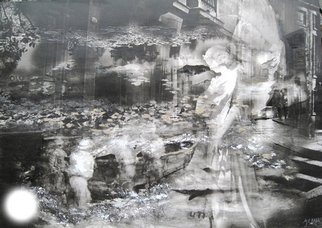 Maria Eugenia Akel: 'berlin y valdivia', 2010 Mixed Media, Ethereal.        It is a mix Photo- painting, using my own self taken photos and my paintings, all worked in digital , and then over canvac.       ...