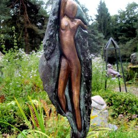 Marianne Den Otter Artwork Escaping from the stone, 2010 Bronze Sculpture, Spiritual