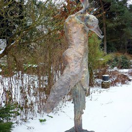 Marianne Den Otter: 'Transformation', 2010 Bronze Sculpture, Spiritual. Artist Description:  tranformation from a tree into a man  ...
