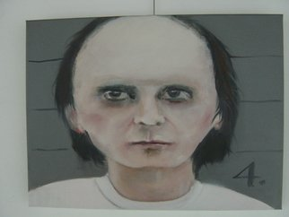 Marianne De Meulenaer Artwork Phil Spector then, 2011 Oil Painting, Portrait
