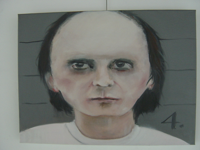 Marianne De Meulenaer  'Phil Spector Then', created in 2011, Original Painting Oil.