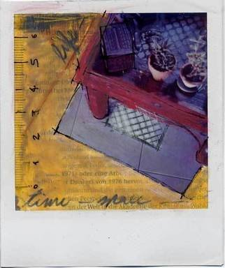 Mariano Biazzi Alcantara: 'time,space,life', 2005 Polaroid Photograph, Abstract.  polaroid manipulation of sx- 70 film ...