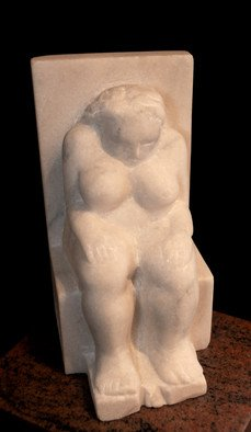 Marian Velescu: 'Silence', 2010 Stone Sculpture, Meditation. Artist Description:   Meditation or just silence!  ...