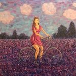 girl in a lavender field By Marina Voronkova