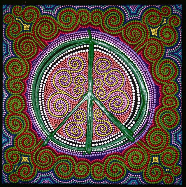 Marie Stewart  'Peace Sign', created in 2009, Original Painting Acrylic.