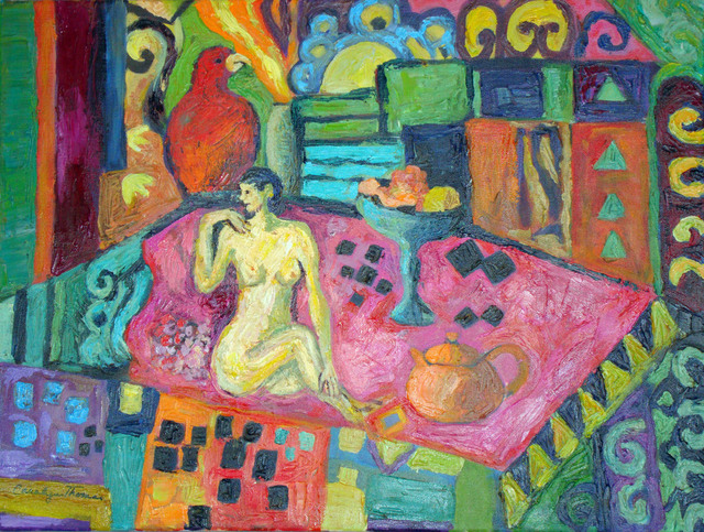 Carolyn Alston Thomas  'Nude In A Landscape', created in 2010, Original Painting Acrylic.
