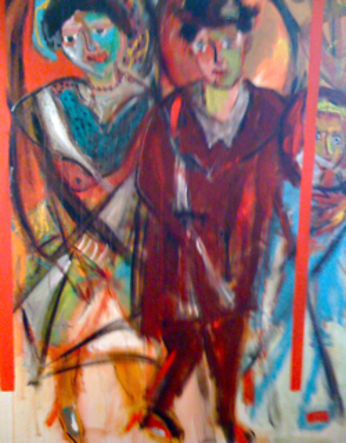 Marijke Coulars  'Parents', created in 2010, Original Painting Acrylic.