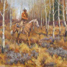 Donny Marincic: 'Long Trot', 2013 Oil Painting, Western. Artist Description:  cowboys, western, western art, horses, cattle drive  ...