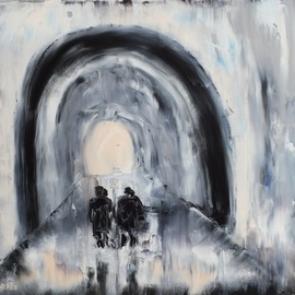 Marino Chanlatte Artwork Light at the End of the Tunnel, 2016 Oil Painting, Abstract