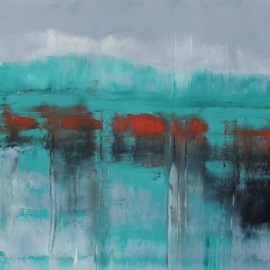 Marino Chanlatte: 'Ocean 16', 2015 Oil Painting, Abstract. Artist Description:  This Ocean series is a challenge and a joy for me, I choose which colors I am going to mix directly on the canvas, getting multiple layers of new tones and texture, describing shapes, lights, and shades of the oceans. Being born in an island the ocean has ...