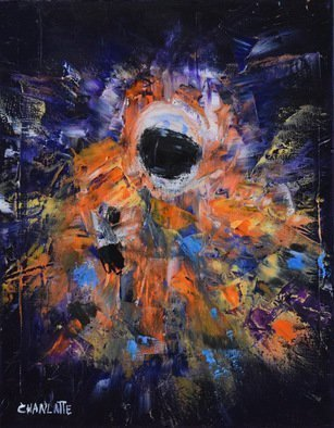 Marino Chanlatte: 'Space 1', 2016 Oil Painting, Space. Artist Description:  Lets celebrate the greatness of the space conquer, this serie will depict astronauts in the space and other spacescapes represented in an abstract style.  The painting extend to the edges of the canvas, 1. 5 depth of canvas, ready to hang. ...