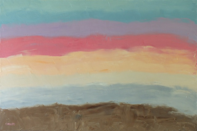 Marino Chanlatte  'Sunset Colors', created in 2015, Original Pastel Oil.