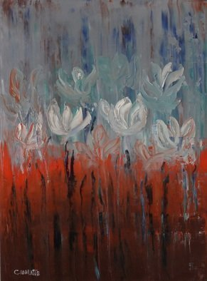 Marino Chanlatte Artwork Water lilie 9, 2016 Oil Painting, Floral