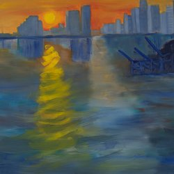 , Miami Sunset Expression, Seascape, $840