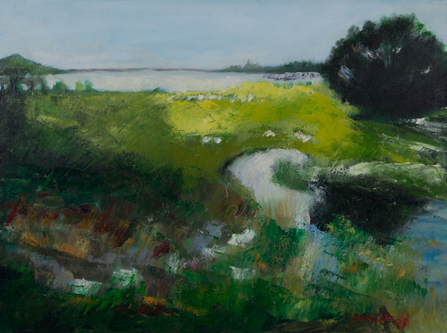 Marino Chanlatte  'Lagoon And Marsh', created in 2008, Original Pastel Oil.