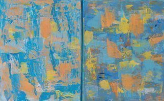 Marino Chanlatte: 'new morning 1', 2017 Acrylic Painting, Abstract. Artist Description: Mixed colors of the sun and sky in an abstract new morning. This work is comprised of two canvases 8 X 10 each. you can arrange them in any order you prefer. You can also match them with the two canvases of Morning 2, making and arrangement of ...