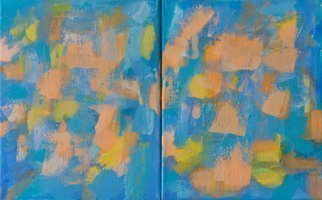 Marino Chanlatte: 'new morning 2', 2017 Acrylic Painting, Abstract. Mixed colors of the sun and sky in an abstract new morning. This work is comprised of two canvases 8 X 10 each. you can arrange them in any order you prefer. You can also match them with the two canvases of Morning 1, making and arrangement of a painting ...
