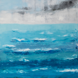 Marino Chanlatte: 'ocean 69', 2018 Oil Painting, Abstract. Artist Description: This Ocean series is a challenge and a joy for me, I choose which colors I am going to mix directly on the canvas, getting multiple layers of new tones and texture, describing shapes, lights, and shades of the oceans. Being born in an island the ocean has ...