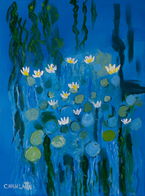 Marino Chanlatte: water lilies 12, 2017 Oil Painting