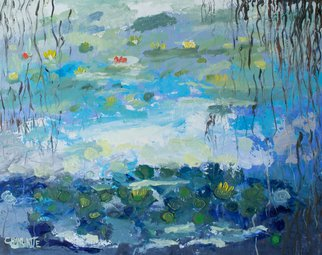 Marino Chanlatte: 'water lilies 15', 2019 Oil Painting, Abstract. I love to observe water lilies in the water and in the canvas or paper, these are my water lilies.Oil on paper...