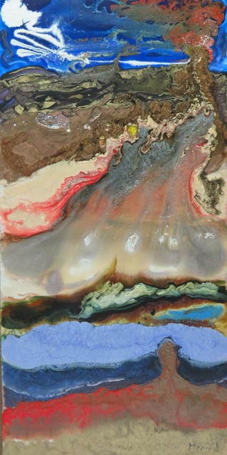 Mario Deschenes  'Volcano In Eruption', created in 2016, Original Mixed Media.