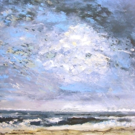 Marion Baars: 'seascape', 2011 Acrylic Painting, Seascape. Artist Description:  Sailing ...