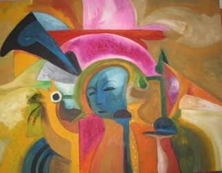 Mario Ortiz Martinez Artwork A FACE IN ALSINGHOR, 2008 Oil Painting, Abstract Figurative