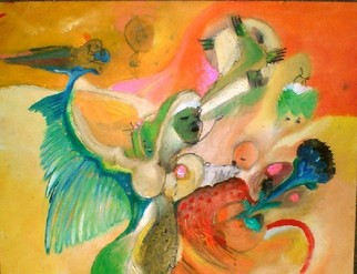 Mario Ortiz Martinez Artwork BIRD WOMAN, 2008 Oil Painting, Abstract Figurative