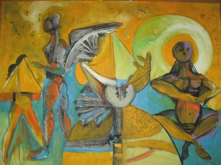 Mario Ortiz Martinez Artwork BLESS THIS LAND, 2008 Oil Painting, Abstract Figurative