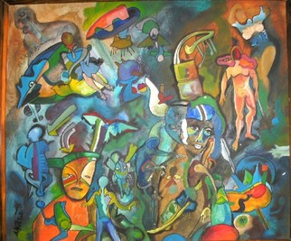 Mario Ortiz Martinez Artwork CAVE OF DREAMS II, 2008 Acrylic Painting,