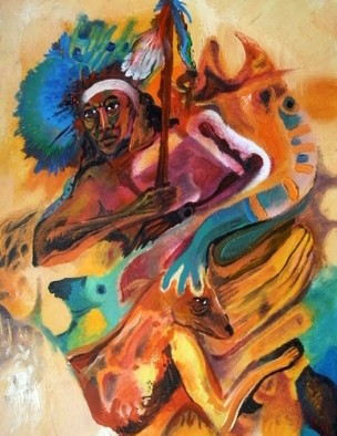 Mario Ortiz Martinez Artwork CELEBRATION, 2009 Oil Painting, Abstract Figurative