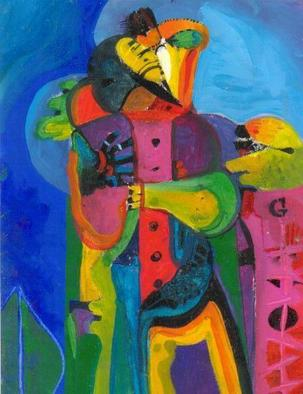 Mario Ortiz Martinez Artwork Composition IV, 2000 Oil Painting, Abstract Figurative