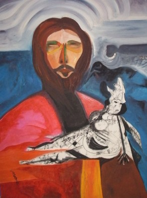 Mario Ortiz Martinez Artwork DON JUAN, 2008 Oil Painting, Abstract Figurative