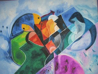 Mario Ortiz Martinez Artwork GEOMETRICA, 2008 Oil Painting, Abstract Figurative