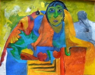 Mario Ortiz Martinez Artwork INSPIRATION, 2009 Acrylic Painting, Abstract Figurative