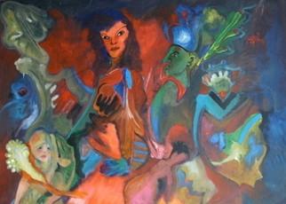 Mario Ortiz Martinez Artwork MARIA INTO A DREAM, 2008 Oil Painting, Abstract Figurative