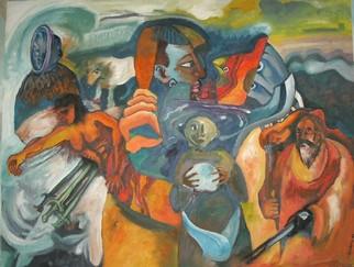 Mario Ortiz Martinez Artwork NIGHTMARE, 2008 Oil Painting, Abstract Figurative