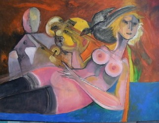 Mario Ortiz Martinez Artwork OLYMPIA XXI CENTURY, 2008 Oil Painting, Abstract Figurative
