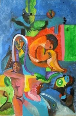 Mario Ortiz Martinez Artwork PAINTING COLLAGE, 2009 Acrylic Painting, Abstract Figurative