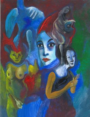 Mario Ortiz Martinez Artwork POEM ON WOMEN, 2008 Oil Painting, Abstract Figurative