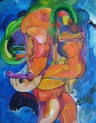 Mario Ortiz Martinez Artwork POETICA, 2009 Acrylic Painting, Abstract Figurative