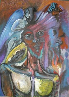 Mario Ortiz Martinez Artwork QUIXOTESQUE 2, 2008 Oil Painting, Abstract Figurative