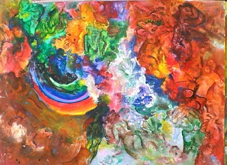 Mario Ortiz Martinez Artwork RAINBOW, 2008 Acrylic Painting, Abstract Figurative