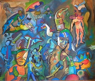 Mario Ortiz Martinez Artwork REMEMBRANCES, 2008 Acrylic Painting, Abstract Figurative