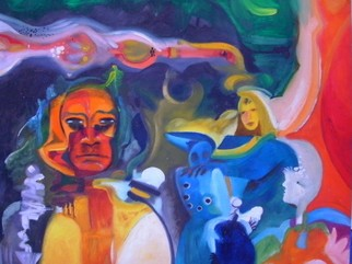Mario Ortiz Martinez Artwork SCIENCE FICTION, 2008 Oil Painting, Abstract Figurative