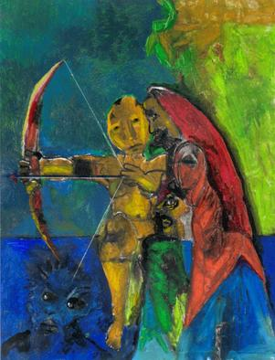 Mario Ortiz Martinez Artwork THE ARCHER, 2011 Oil Pastel, Fantasy