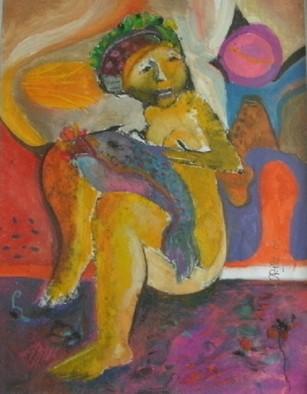 Mario Ortiz Martinez Artwork THE FISH, 2009 Oil Painting, Abstract Figurative