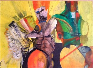 Mario Ortiz Martinez Artwork THE GLADIATORS, 2008 Oil Painting, Abstract Figurative