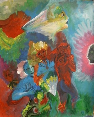 Mario Ortiz Martinez Artwork THE HIDDEN SECRET, 2009 Acrylic Painting, Abstract Figurative